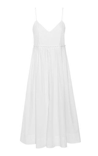 Aspen Washed Cotton Poplin Midi Dress