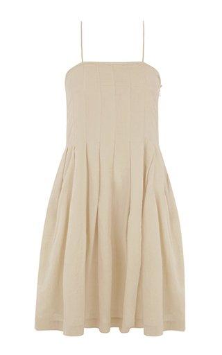 Darya Pleated Voile Mini Dress