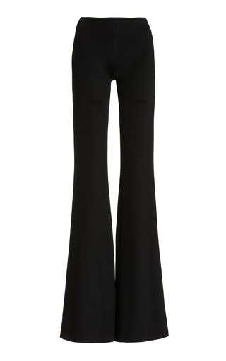 Ponte Flared-Leg Trousers