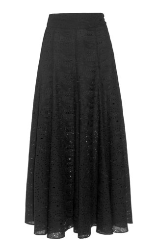 Amelina Broderie Anglaise Maxi Skirt