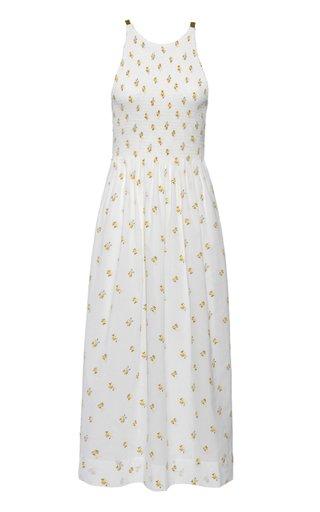 Soleil Embroidered Cotton-Blend Maxi Dress