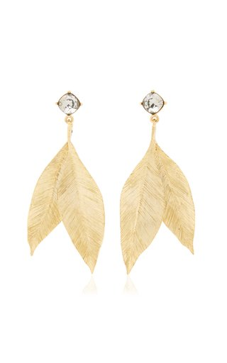 18K Gold-Plated Leaf Earrings