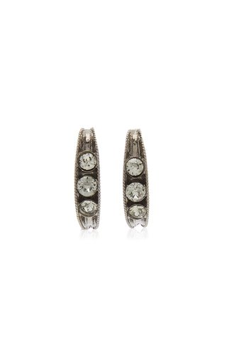 Crystal-Embellished Single Peapod Earrings