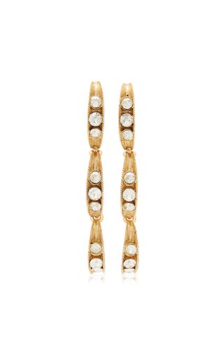 Crystal-Embellished Peapod Earrings