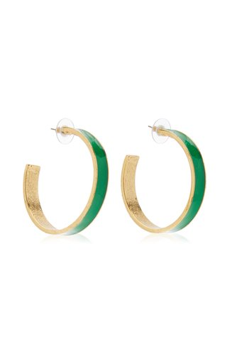 Enamel Hoop Earrings