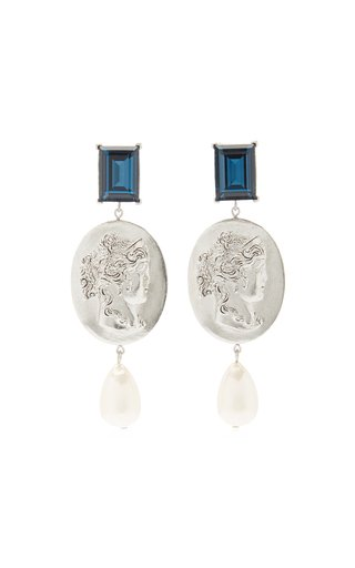 Cameo Pearl Drop Earrings
