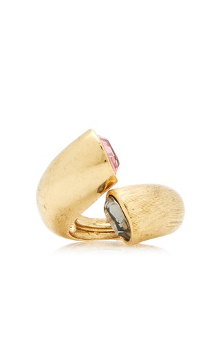 Gold-Tone Curve Ring