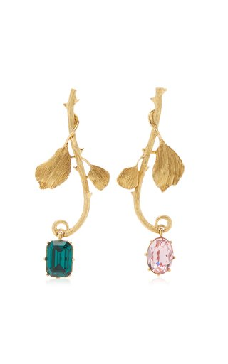 Gold-Tone Thorn Earrings
