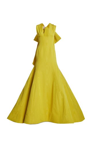 Bow Back Moire Faille Gown