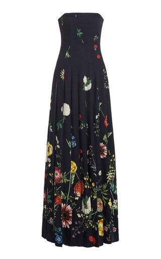 Printed Chiffon Maxi Gown