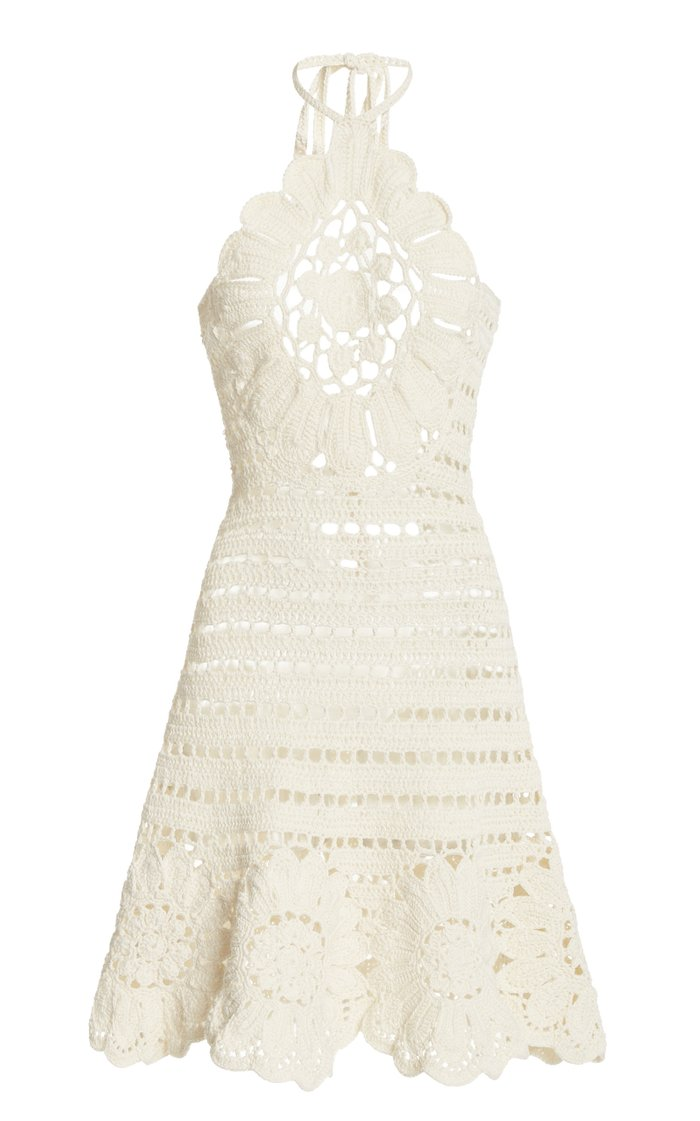 Embroidered Knitted Cotton Dress