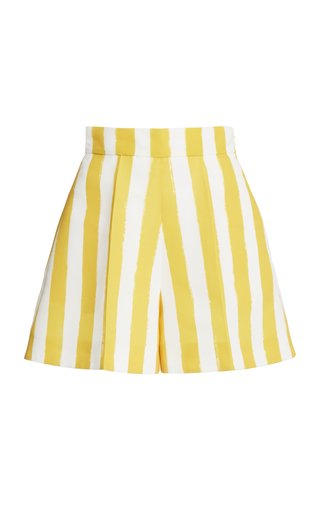Striped Faille Shorts