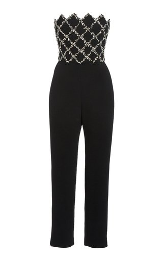Embellished Wool-Blend Jumpsuit