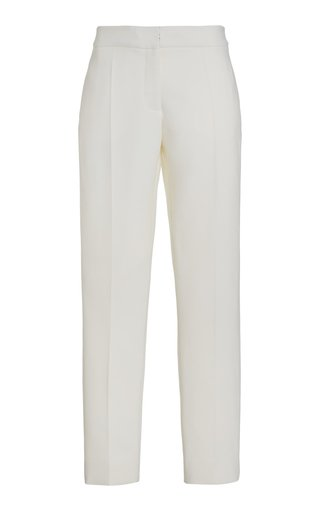 Stretch-Silk Straight-Leg Trousers