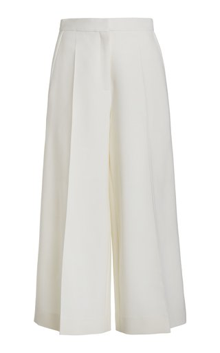 Virgin Wool-Blend Culottes