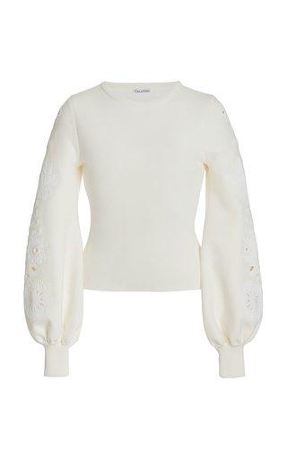 Embellished Sleeve Knit Pullover