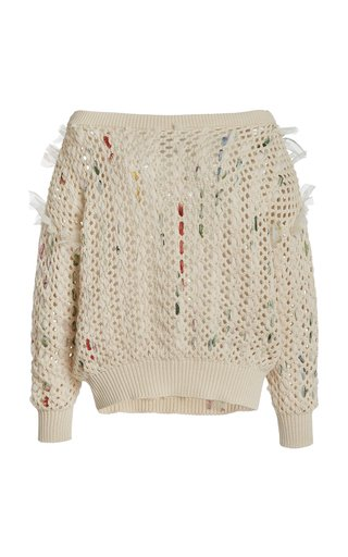 Knitted Silk-Cotton Pullover