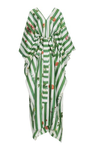 Striped Printed Silk Caftan