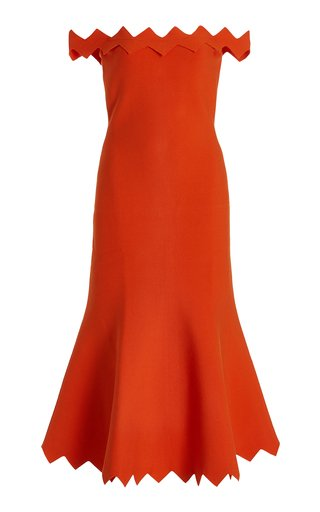Cady Off-The-Shoulder Midi Dress