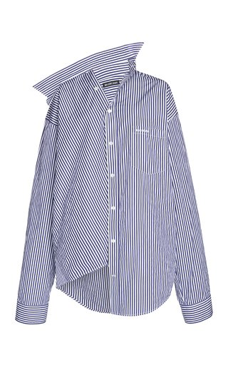 Twisted Striped Cotton Poplin Shirt
