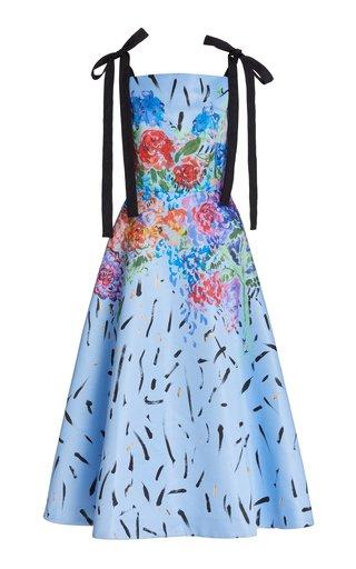 Printed Tie-Detail Cady Dress