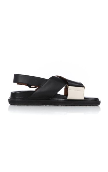 Fussbett Two-Tone Leather Sandals