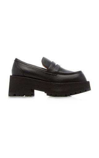 Moccassin Leather Platform Loafers