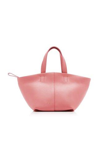 Mini Tulipano Leather Tote Bag