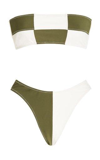 Daria Colorblocked Bandeau Bikini