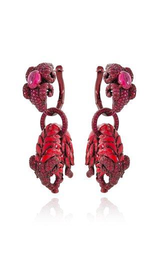 Scarlet Empress Loop Earrings
