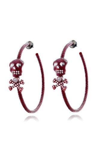 Scarlet Empress Ruby Skull Hoops