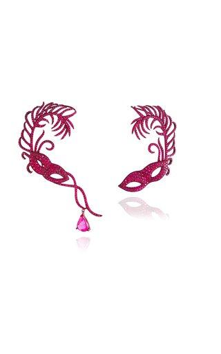 Scarlet Empress Ruby Mask Ear Climbers