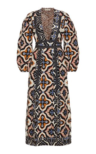 Amari Patchwork Cotton Midi Dress