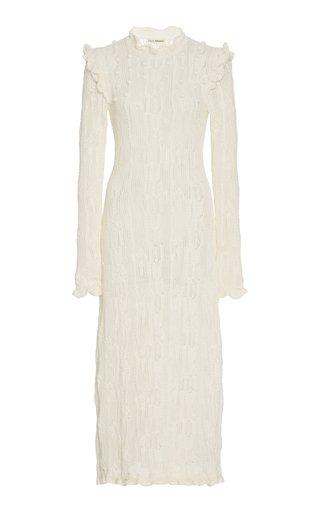 Antoille Pointelle-Knit Cotton-Blend Midi Dress