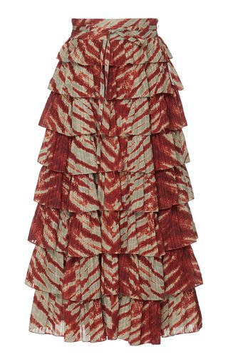 Margot Tie-Dyed Midi Skirt