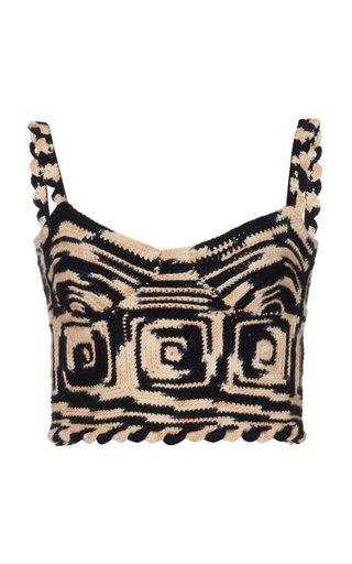 Lucia Crocheted Wool Crop Top