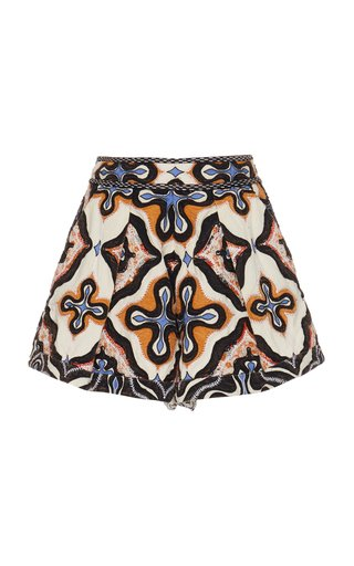 Tariq Printed Cotton Shorts