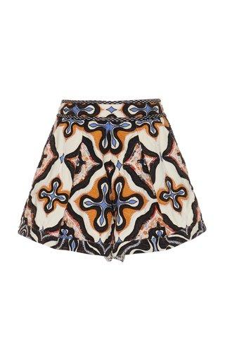 Tariq Printed Cotton Shorts