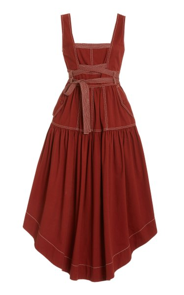 Howell Belted Cotton Midi Dress