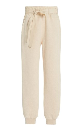Haven Belted Cotton Track Pants