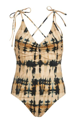 Dali Ruched Tie-Dyed One-Piece Swimsuit