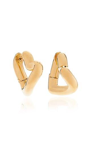 Loop Heart-Shaped Gold-Tone Hoop Earrings
