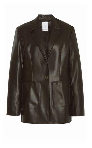 Quinn Faux Leather Blazer