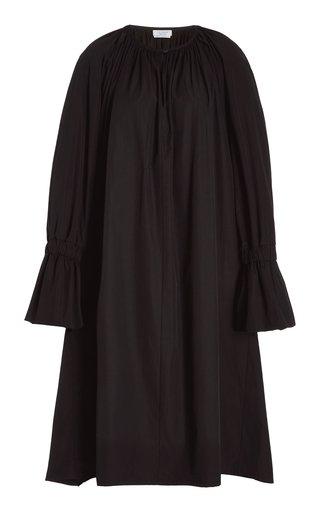 Aurora Balloon-Sleeve Poplin Dress