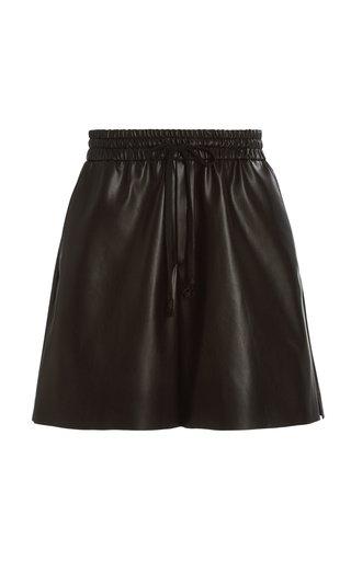 Brooke Faux Leather Knee-Length Shorts