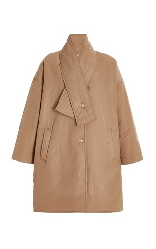 Enya Padded Nylon Coccoon Coat