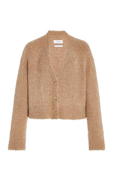 Elsa Boucle Wool-Silk Blend Cardigan