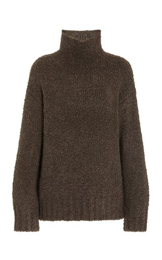 Gracie Boucle Knitted Wool And Silk-Blend Sweater