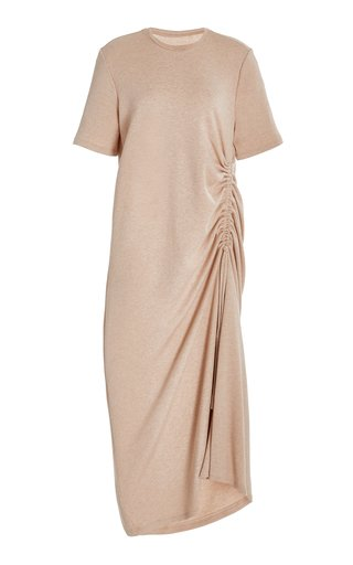 Kate Ruched Cotton Maxi Dress