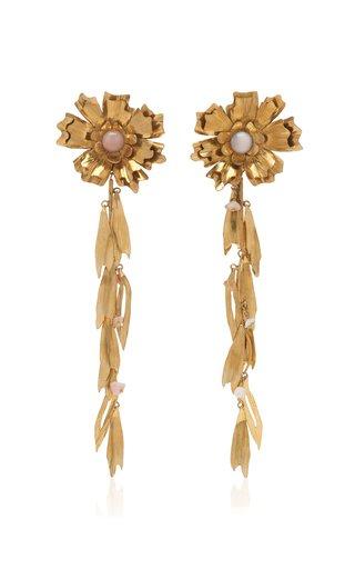 Gold-Tone Lenna Flower Earrings